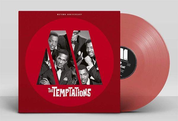 TEMPTATIONS MOTOWN ANNIVERSARY: THE TEMPTATIONS LP RED VINYL