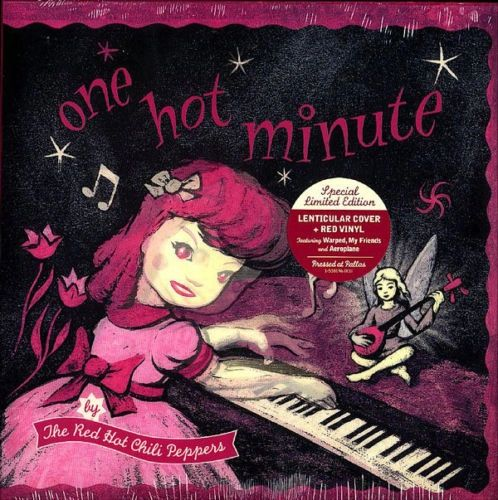 RED HOT CHILI PEPPERS ONE HOT MINUTE NUMBERED LIMITED EDITION ON RED VINYL & 3D LENTICULAR COVER (OUT OF PRINT)