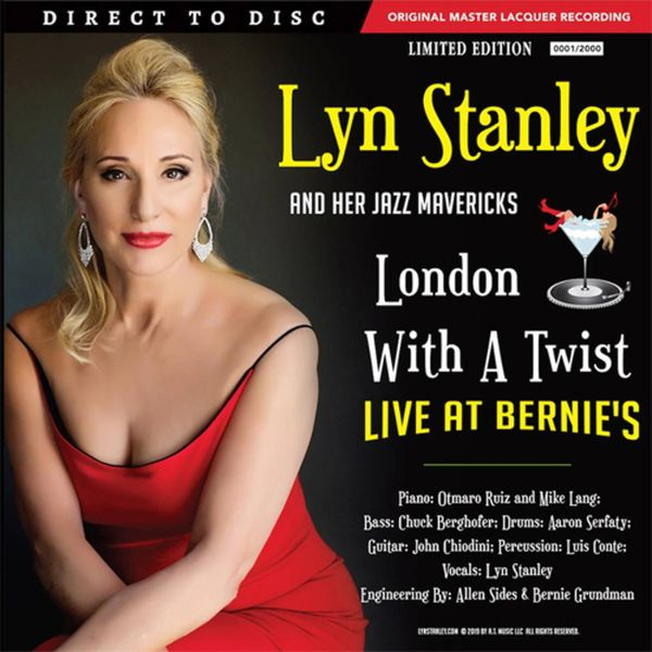 LYN STANLEY LONDON WITH A TWIST LIVE AT BERNIE'S NUMBERED LIMITED EDITION 180G D2D 45RPM 2LP FERRARI RED (AUTOGRAPHED)