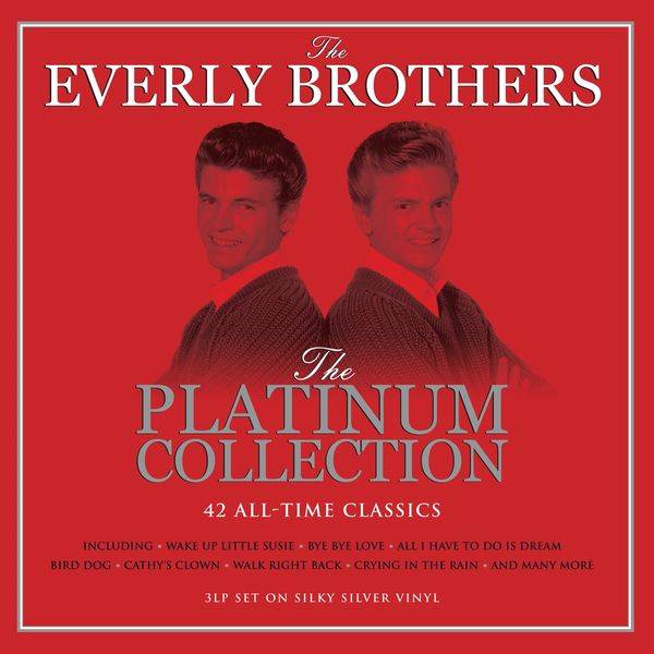 EVERLY BROTHERS THE PLATINUM COLLECTION 3LP SILVER VINYL