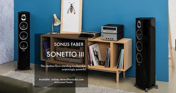 SONUS FABER SONETTO III FLOORSTAND SPEAKERS