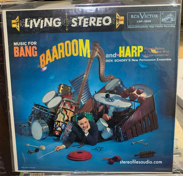 DICK SCHORY'S NEW PERCUSSION ENSEMBLE MUSIC FOR BANG, BAAROOM, AND HARP NM/NM