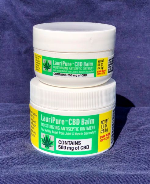 Special Offer: Buy a 1 oz LauriPure™ CBD Balm & get a FREE 1/2 oz (Travel Size) CBD Balm