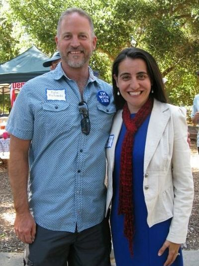 Kyle Richards with State Assemblymember Monique Limón.