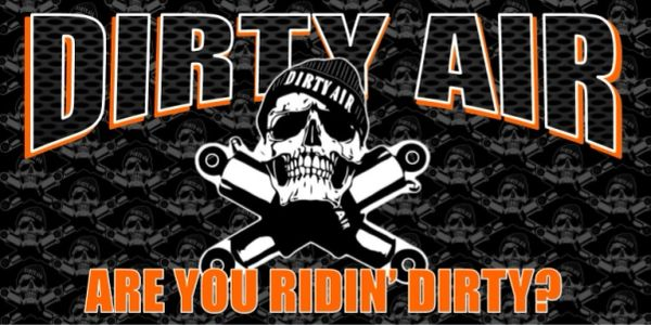 "DIRTY AIR Store Banner - 16"" x 32"" ORANGE"