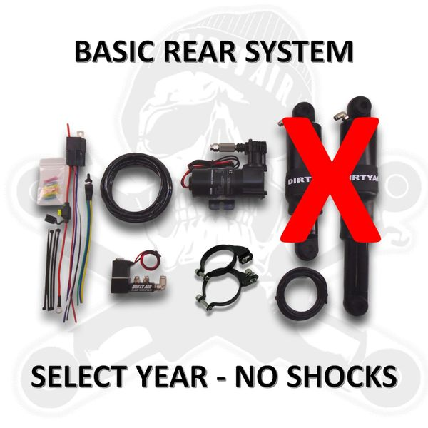 DIRTY AIR Rear kit without shocks (For stock shocks or other shocks)