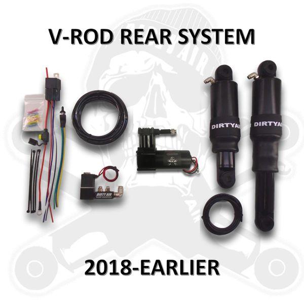 DIRTY AIR Basic Rear V-ROD Night Rod Muscle Rear Air Suspension System VROD