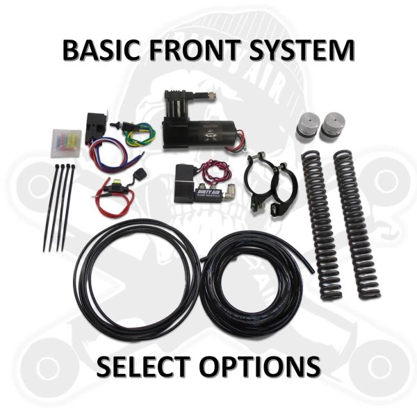 DIRTY AIR Basic Front Air Ride System - TOURING Models