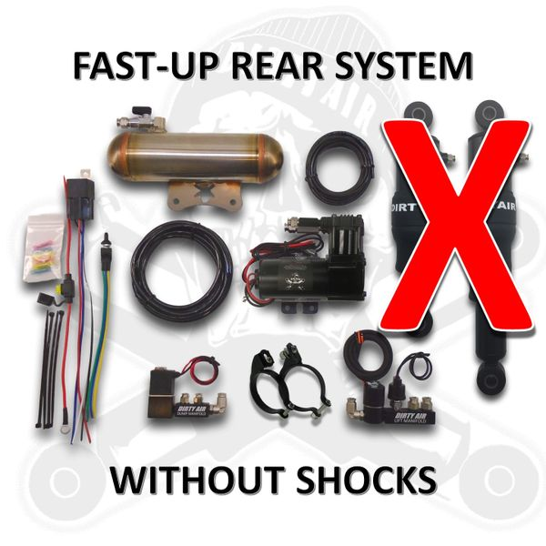DIRTY AIR Rear Air Suspension System FAST-UP *WITHOUT SHOCKS*