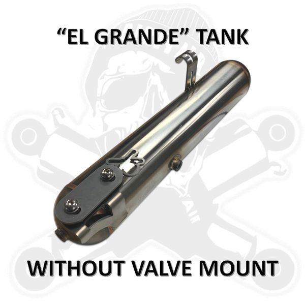 "DIRTY AIR Stainless Steel Tank Under Left Saddlebag w/o valve mount ""EL Grande"""
