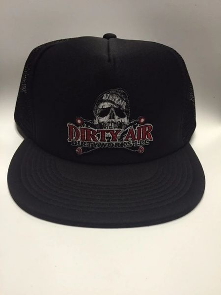 DIRTY AIR Flat Bill TRUCKER Mesh SnapBack Hat