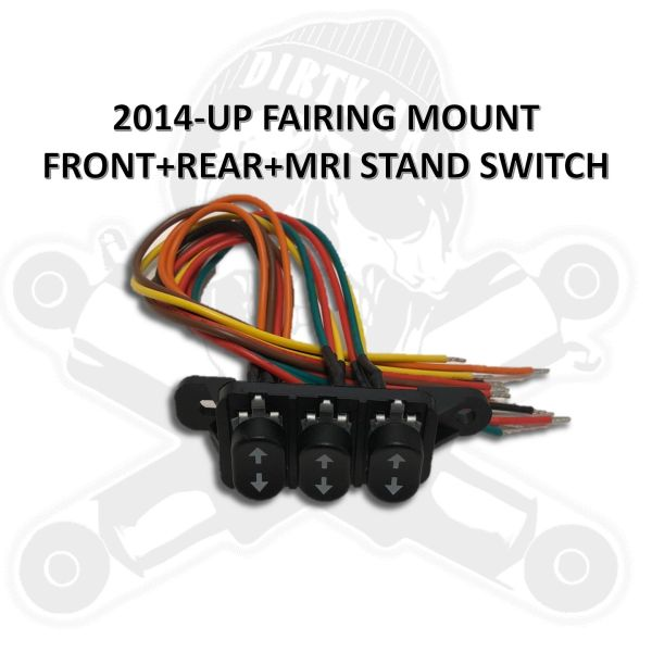Rocker Switch - 2014-up Fairing Mount FRONT+REAR+MRI