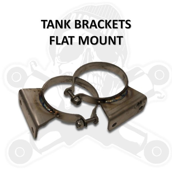 "DIRTY AIR Tank brackets - flat mount for 2.5"" or 3"" tanks"