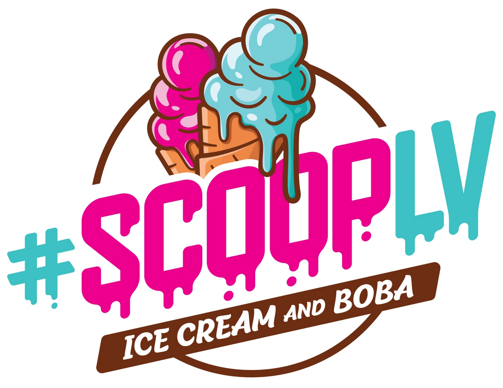 ScoopLV a local dessert shop in Las Vegas, Nevada. Ice cream, boba and more!
