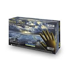 DARK LIGHT® Black Nitrile Powder Free Exam Gloves