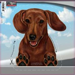 Dachshund On the Move Car Window Decal