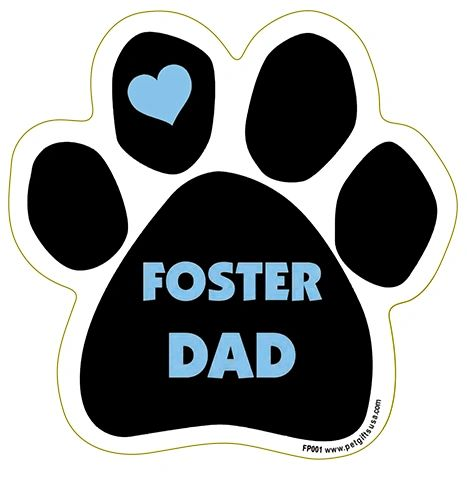 Foster Dad Paw Magnet