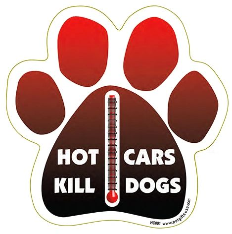 Hot Cars Kill Paw Magnet