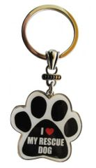 Keychain - I Love My Rescue Dog