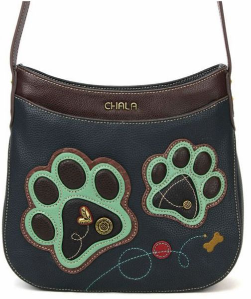 Chala Paw Print Mini Crescent Crossbody Bag
