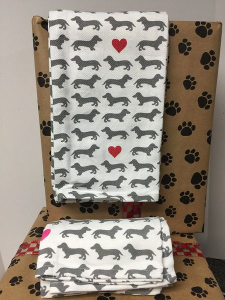 Dachshund Tea Towel Set B