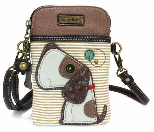 Chala Cell Phone XBody Bag - Striped Toffee Dog