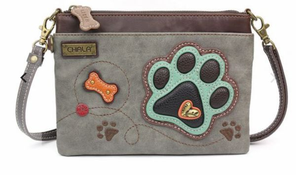 Chala Mini Crossbody Bag - Gray Paw