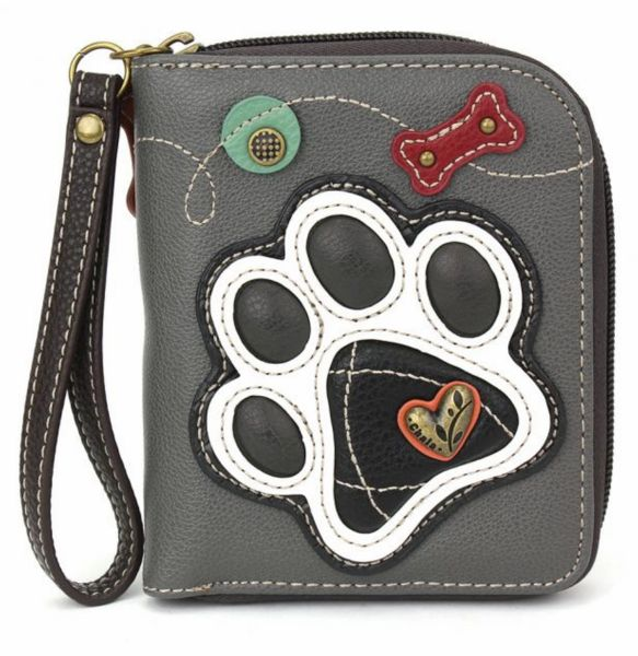 Chala Paw Zip Around Wallet