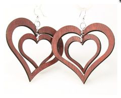 DRBC Double Heart Earrings
