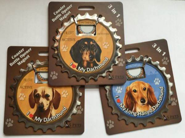 Doxie Coaster/Opener/Magnet