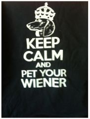 'Keep Clam and Pet Your Wiener' Tee