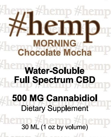 Energizing, Morning Blend: Chocolate-Mocha Flavor CBD