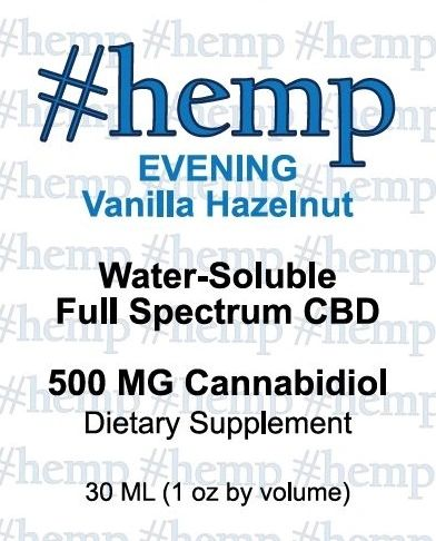 Relaxing, Evening Blend: Vanilla-Hazelnut Flavor CBD