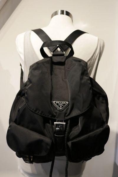 05e89f28f42d Prada Black Nylon Drawstring Backpack | Andre Dupree Luxury Designer ...