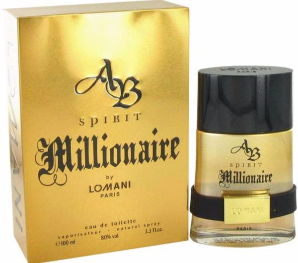 AB Spirit Millionaire by Lomani 3.3 Fl Oz.