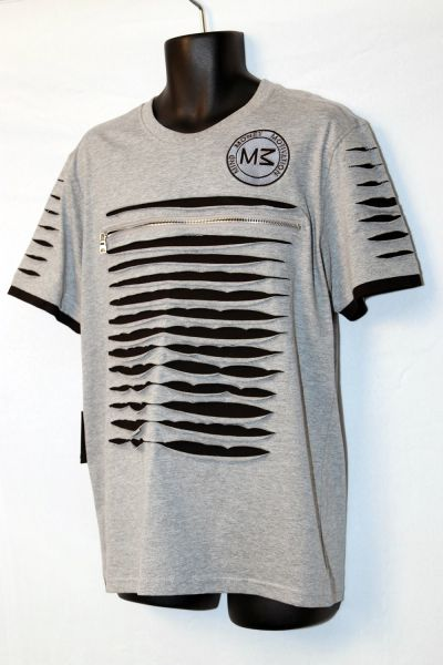 M3 Short Sleeve Grey & Black Razored