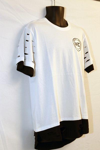M3 Black & White Short Sleeve Razored