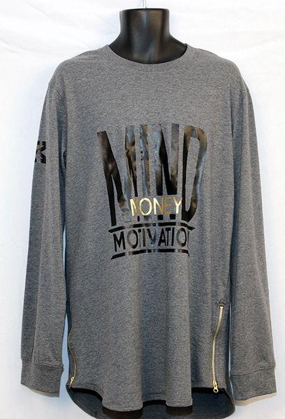 M3 Black Long Sleeve w/ Side Zipper -Yezzy Style Shirt