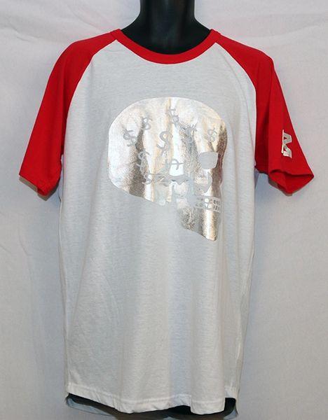 M3 White & Red Short Sleeve w/ Skull Dollar Sign