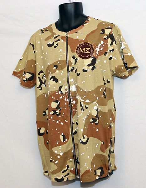 M3 Cameo Short Sleeve w/Front and Side Zipper