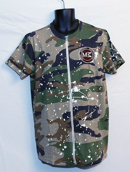 M3 Green Camo Short Sleeve w/Front and Side Zipper