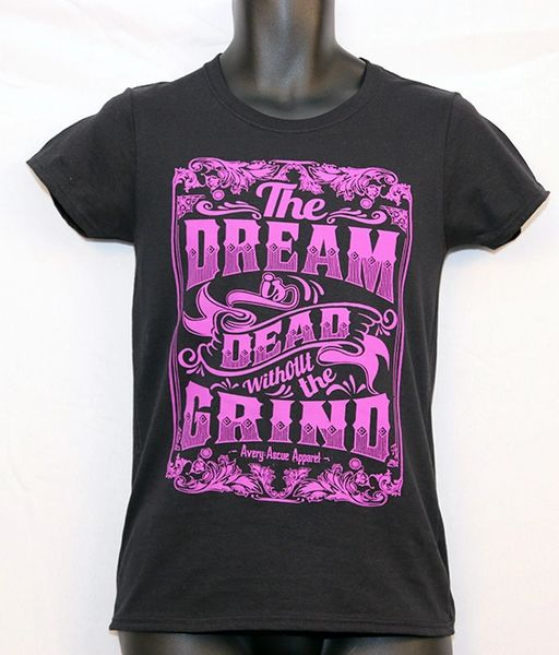 """Avery Ascue """"The Dream Is Dead Without The Grind"""" Short Sleeve - Black and Purple"""