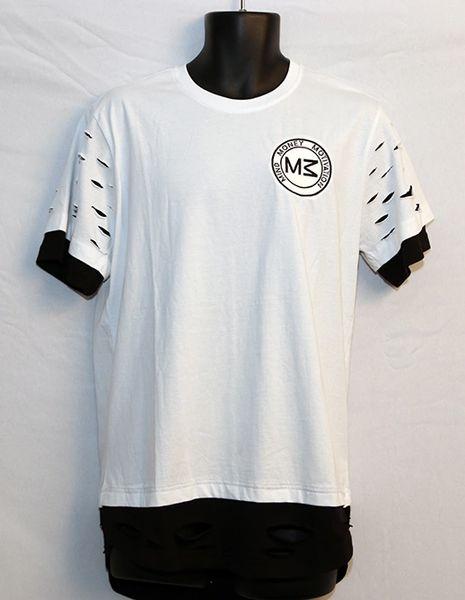 M3 White & Black Short Sleeve Razored