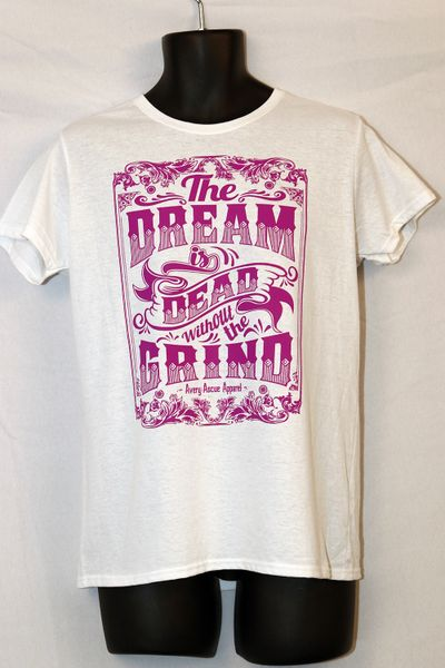 """Avery Ascue """"The Dream Is Dead Without The Grind"""" Short Sleeve - White and Purple"""