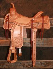 Cow Horse - 7/8 Sheridan Tooling (Light Oil)