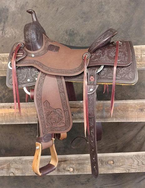 Cow Horse - 7/8 Sheridan Tooling (Dark)