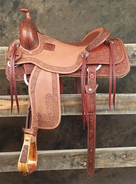 Cow Horse - 7/8 Floral Sheridan Tooling