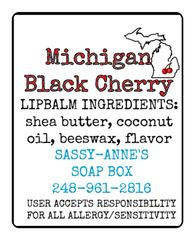 Michigan Black Cherry Lip Balm