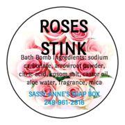 Roses Stink Bath Bomb