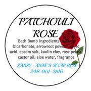 Patchouli Rose Bath Bomb
